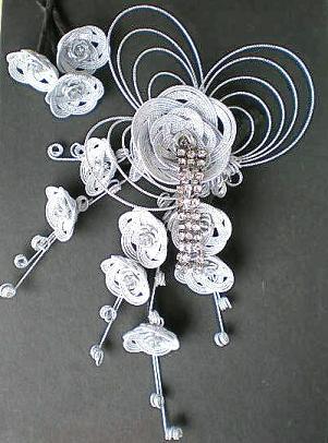 和装華飾りシルバー