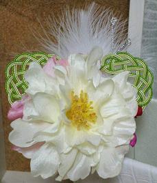 松結び牡丹の髪飾り