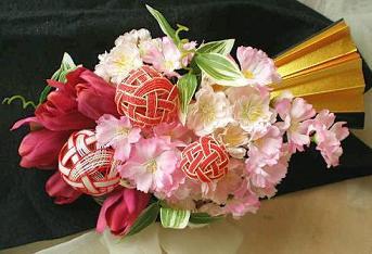 桜の扇ブーケ