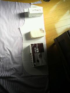 男のシャツ 手作り開始
