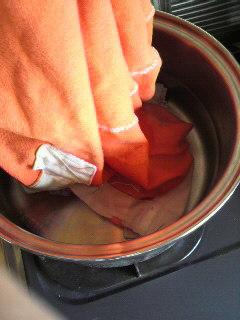 襟の黄ばみ落とし 方法4