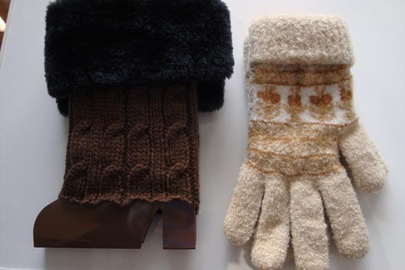 長女の手袋とレックウォーマー