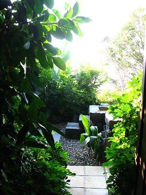 露天の階段