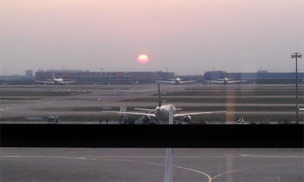 浦東の日没