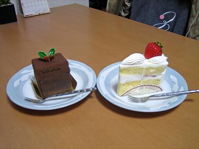 昼間からケーキ