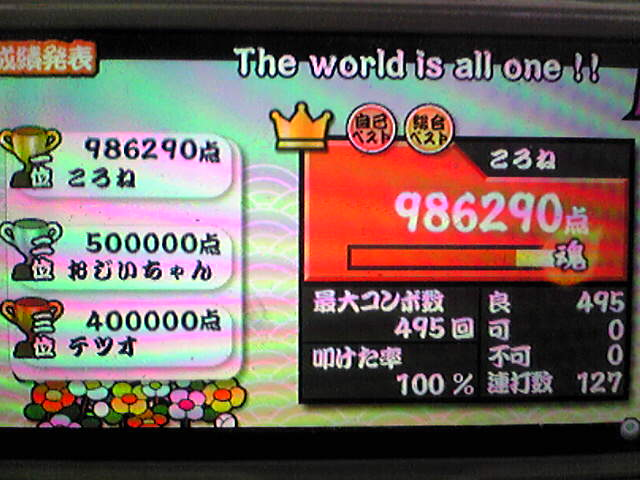 The world is all one !! 全良