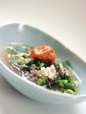 大根菜と干し椎茸の雑炊〈梅Ver.〉
