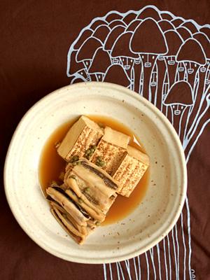 穴子と焼き豆腐の山椒煮