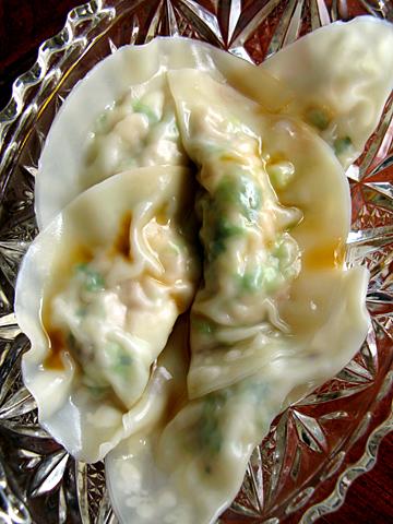 白菜水餃子:茹で上がり