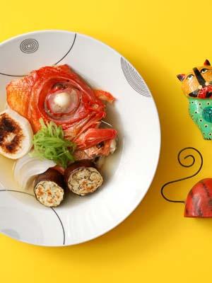 金目鯛と焼き野菜の潮汁