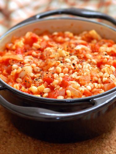 押し麦のトマトリゾット