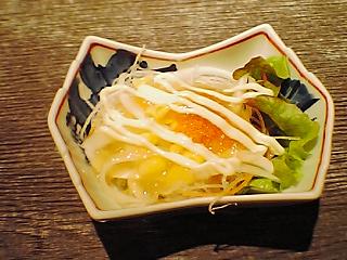 お寿司のセットサラダ