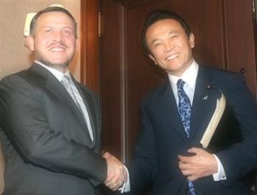 外交タロー:20061221ヨルダンのアブドゥラ国王と握手