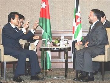 外交タロー:20061221ヨルダンのアブドゥラ国王と会談