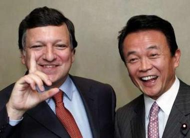 外交タロー:20060504バローゾ委員長と