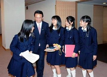 20060413愛知教育大学付属岡崎中学校来訪
