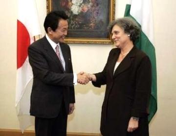 外交タロー:20070111日ハンガリー外相会談1