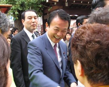 演説タロー:20060916浅草にて