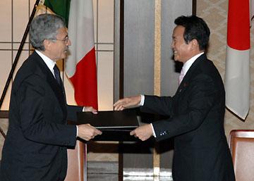 外交タロー:20070131ダレーマ・イタリア副首相兼外相と