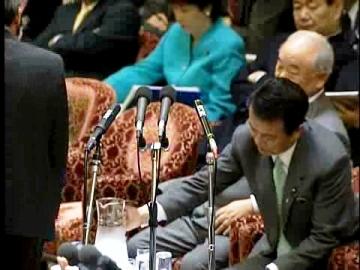 国会タロー:20070207衆院予算委員会「お水を注ぐよ」