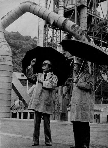 1977年「麻生セメント田川工場にて」