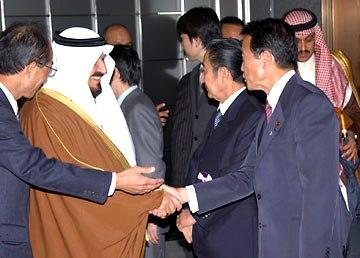 外交タロー:20060405サウジアラビア王国皇太子殿下お出迎え