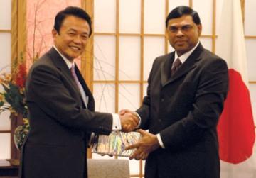 外交タロー:20070219ラージャパクサ・スリランカ大統領首席顧問と