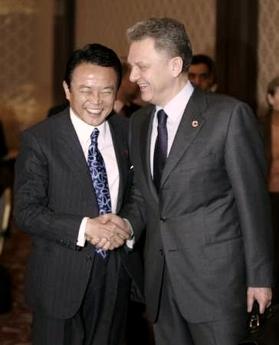 外交タロー:20070226ロシアのフリステンコ産業エネルギー大臣と1