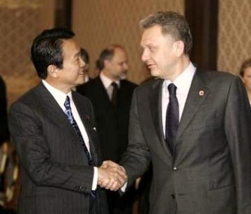 外交タロー:20070226ロシアのフリステンコ産業エネルギー大臣と2