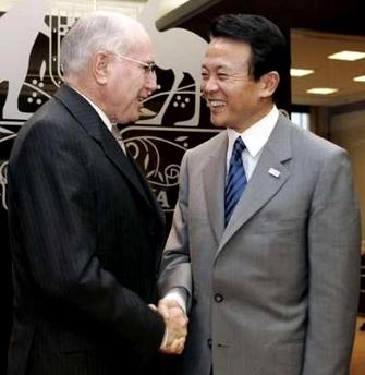 外交タロー:20060318オーストラリアのハワード首相表敬