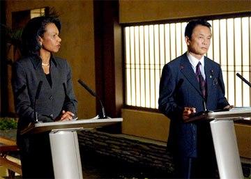 外交タロー:20061018日米共同記者会見