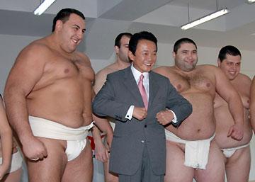 外交タロー:20070111相撲土俵供与式