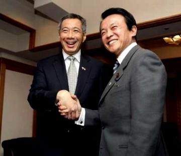 外交タロー:20070320リー・シェンロン・シンガポール首相と