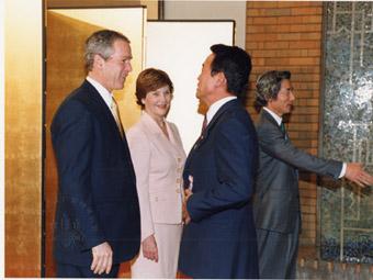 20020218アメリカ大統領歓迎レセプション