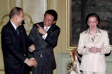 20060629G8外相会合・EUのソラナ上級代表、ベケット英外相と