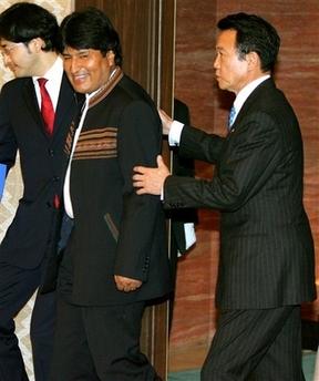 20070306ボリビアのモラレス大統領と