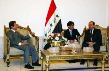 外交タロー:20060803イラクのマリキ首相との会談