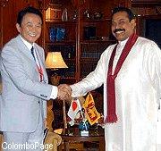 外交タロー:20070403スリランカのラージャパクサ大統領と