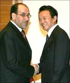 外交タロー:20070409イラクのマーリキー首相と1