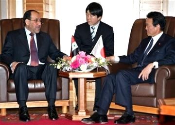 外交タロー:20070409イラクのマーリキー首相と2