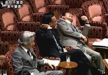 国会タロー:20070613参院予算委員会「のけぞり」