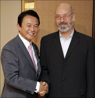 外交タロー:20070620アフガニスタンのハリリ副大統領と