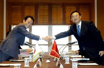 外交タロー:20070603日中外相会談にて
