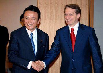 外交タロー:20070702ナルィシュキン・ロシア副首相との会談