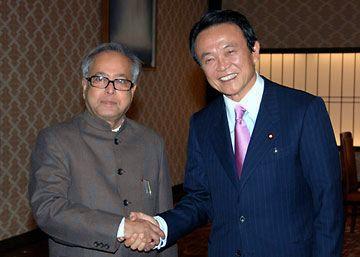 外交タロー:20070322インドのムカジー外相と