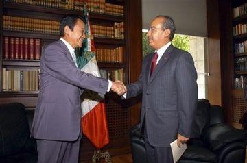 外交タロー:20070817メキシコのカルデロン大統領と1