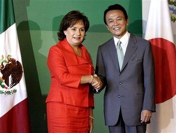 外交タロー:20070817メキシコのエスピノサ外相と1