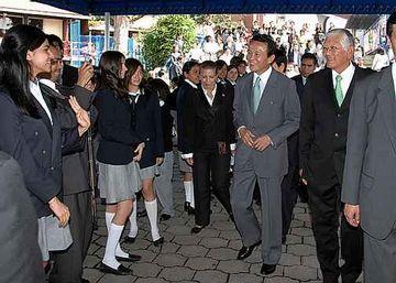 外交タロー:20070817日墨学院訪問