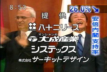 メディアでタロー:20070819永田町ベストショット「4者会合・パレスチナのアッバス議長と」3