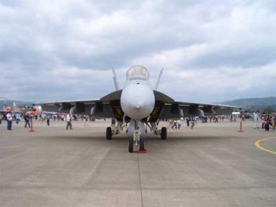 整然と並ぶ戦闘機から一機